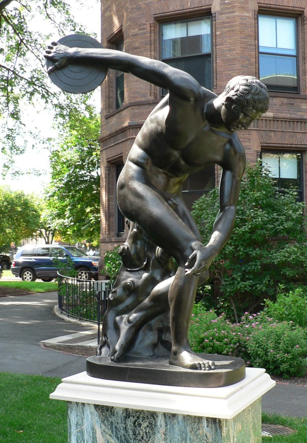Discobolus by Myron bronze